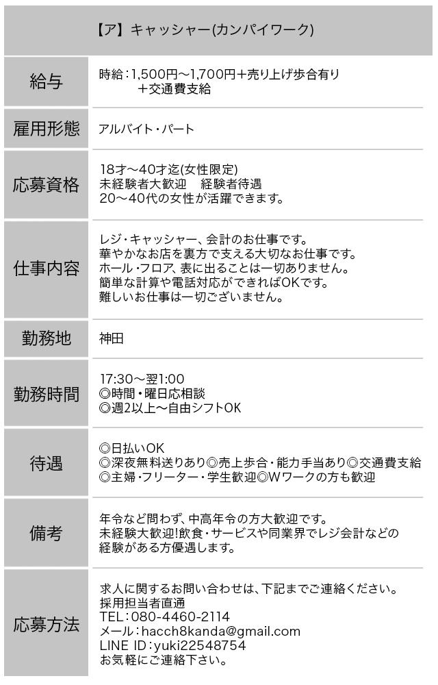 神田いちゃキャバ・JK制服キャバクラ【はっち∞神田店】キャッシー求人